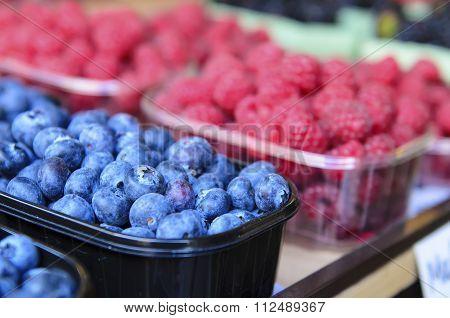 Fresh blueberry at market