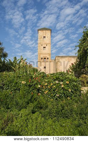 Andalusian Gardens In Udayas Kasbah. Rabat. Morocco.