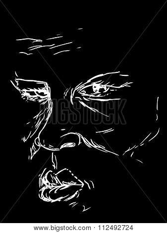 Face Shape Over Black