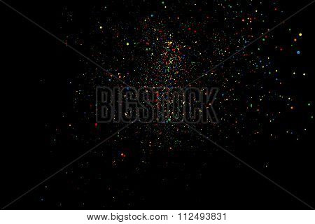 Abstract colorful explosion of confetti vector.