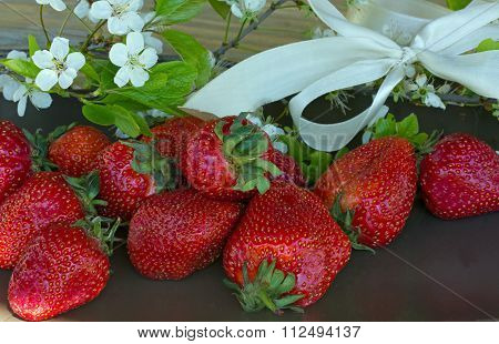 delicious strawberries from the summer garden