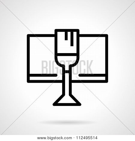 Celebratory drink black simple line vector icon