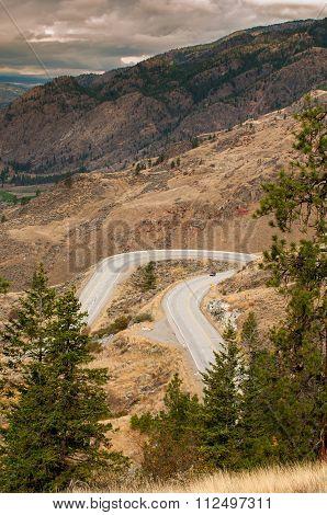 Winding Road in Okanagan Valley