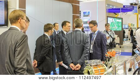 Business People Discussing Something On The Forum Together.