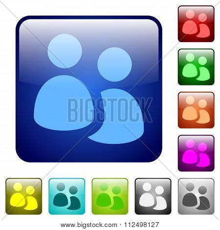Color User Group Square Buttons