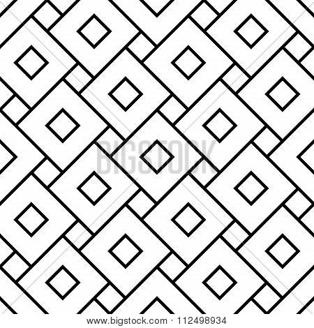 Vector modern seamless geometry pattern squares black and white abstract