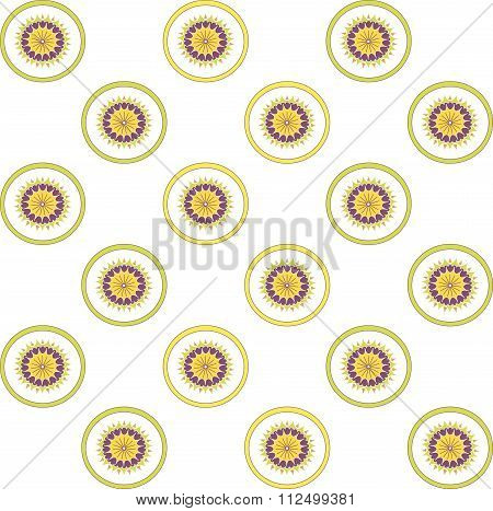 A symmetric pattern on a white background