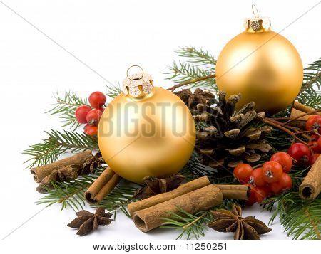 Golden Glass Ball - Christmas Decoration