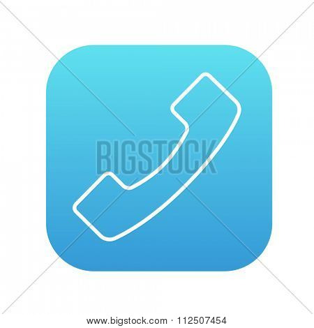 Receiver line icon for web, mobile and infographics. Vector white icon on the blue gradient square with rounded corners isolated on white background.