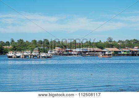 Water Village Kg Patau-Patau Labuan FT, Malaysia.