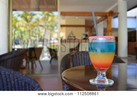 Tropical drink in Cuba