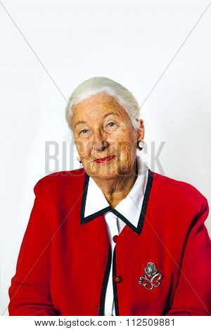 Portrait Of Smiling Attractive Senior Woman