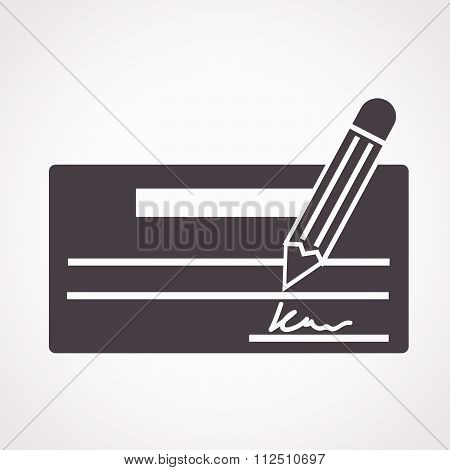 an images of illustration vector cheque icon