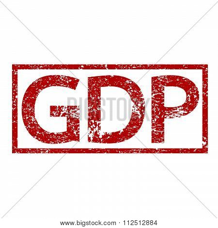 an images of illustration Stamp text GDP