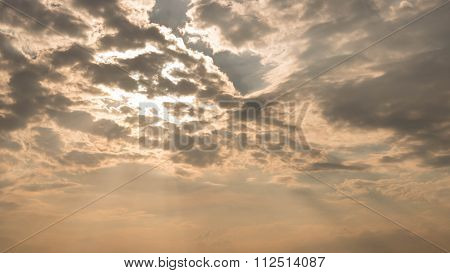 Light Streaming Through Clouds