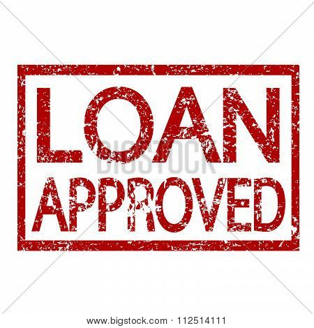 an images of illustration Stamp text LOAN APPROVED