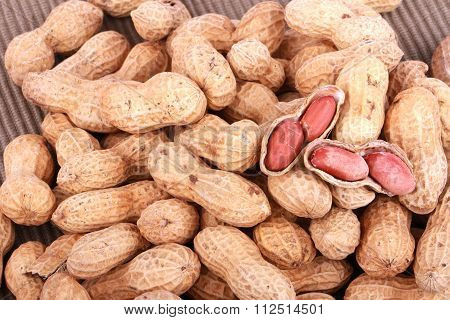 Groundnuts on white background