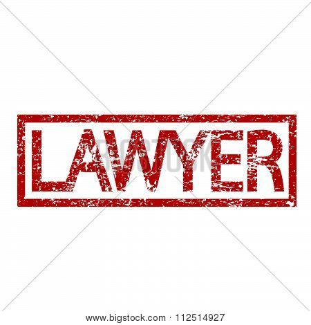 an images of illustration Stamp text LAWYER