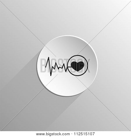 Heart Pulse Flat Icon