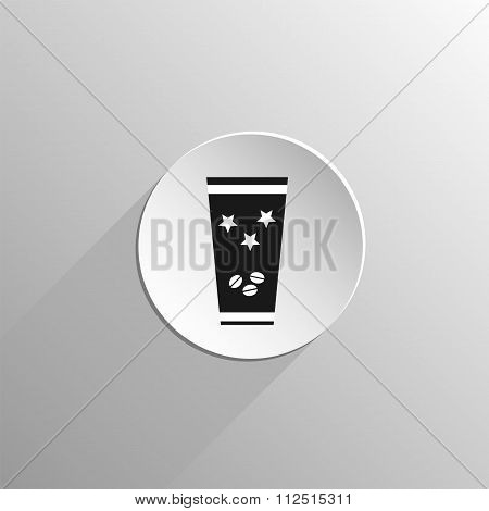 Plastic Cup With Hot Coffee Icon