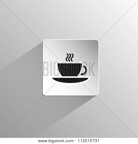 Tea Cup And Saucer Black Icon