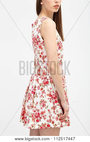 Young Woman In The Color Dress