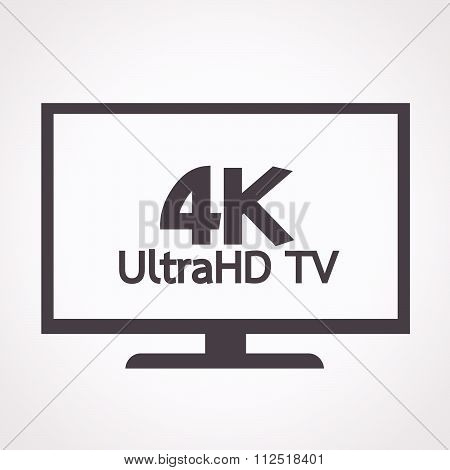 an images of 4K UltraHD TV icon