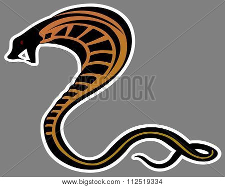 art animal cobra snake vector illustration