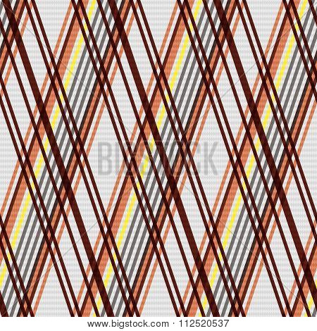 Rhombic Seamless Pattern In Warm Colors