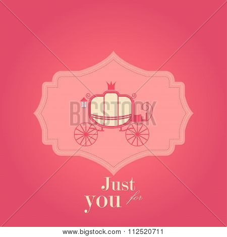Greeting card Valentines day with coach. Perfect for decoration postcards, brochures, textiles