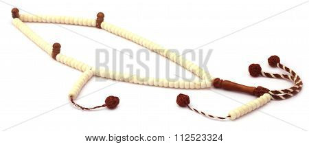 Rosary Over White Background