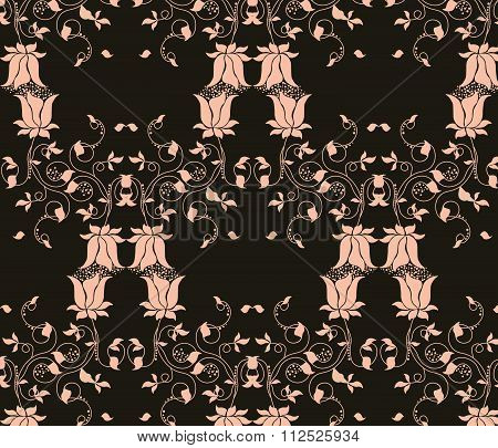 Tulips flowers pattern