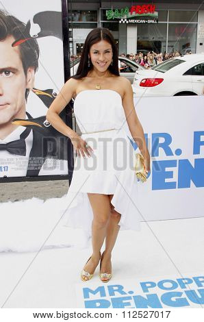 HOLLYWOOD, CALIFORNIA - June 12, 2011. Carla Ortiz at the Los Angeles premiere of
