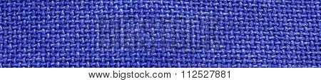 Blue Woven Material / Textile / Fabric Background Texture - Panorama / Banner.