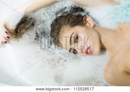 Flirtatious Woman In Bath