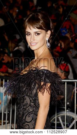 DISNEYLAND, CALIFORNIA - May 7, 2011. Penelope Cruz at the World premiere of