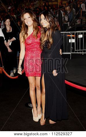DISNEYLAND, CALIFORNIA - May 7, 2011. Ashley Tisdale and Vanessa Hudgens at the World premiere of