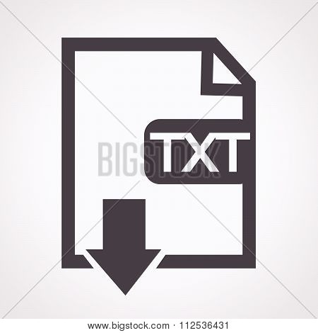 an images of File type TXT icon