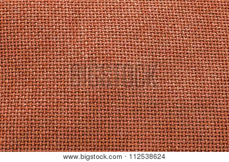 Orange Woven Material / Fabric / Textile Background Texture - Large File.