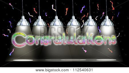 Congratulations Lamp Hanging Draw Background