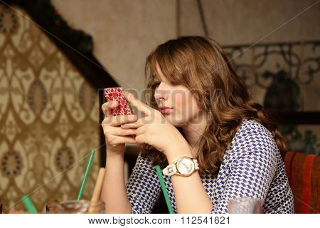 Girl Using Smartpfone