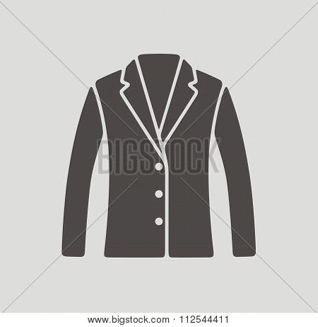 Business Jacket Icon On Background