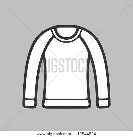 Vector illustration of women's jumper icon on background