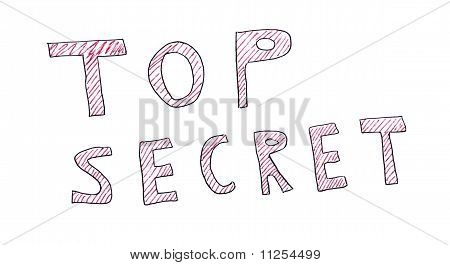 Top Secret Message Isolated