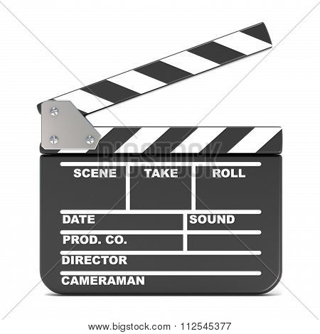 Movie clapperboard opened. 3D
