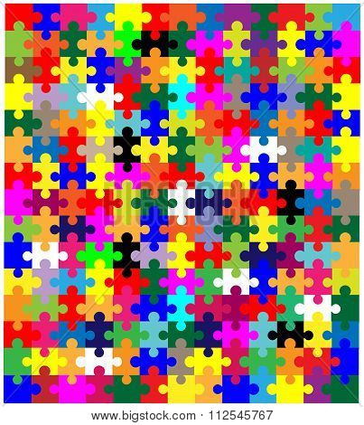 Jigsaw Pieces In Colour