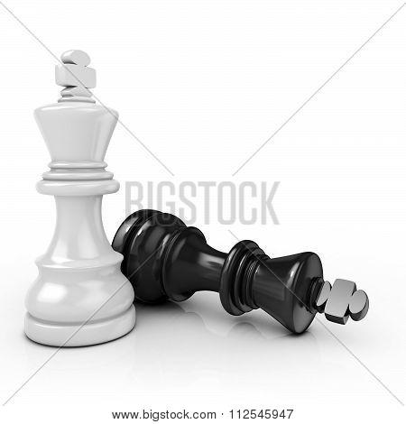 White king chess mate