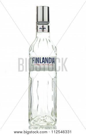 Finlandia vodka isolated on white background