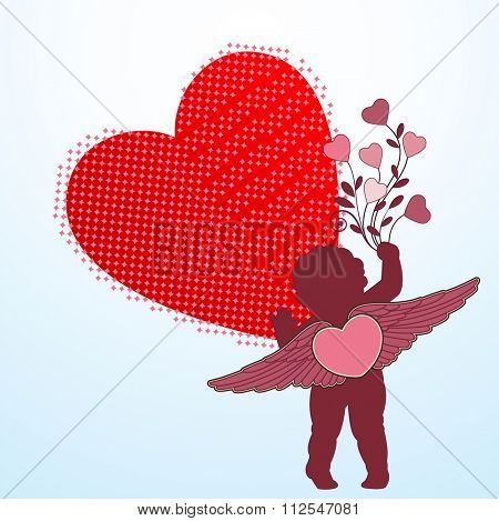 Cupid bouquet of hearts