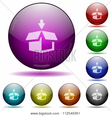 Pack Glass Sphere Buttons